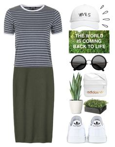 """""""go green"""" by camillaermitnavn ❤ liked on Polyvore featuring Toast, adidas, Topshop, October's Very Own and Old Navy"""