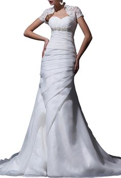 Angel Formal Dresses Organza Sweetheart Beading Sweep Mermaid Wedding Dresses *** Special  product just for you. See it now! : wedding dresses