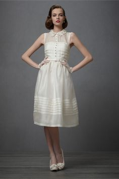 Will season five start with a Mad Men wedding? If it does, I hope to see Megan in this. Comme Il Faut Dress by BHLDN.