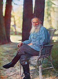 Lev Nikolaevich Tolstoy, May 1908. Only know color photograph of the author.