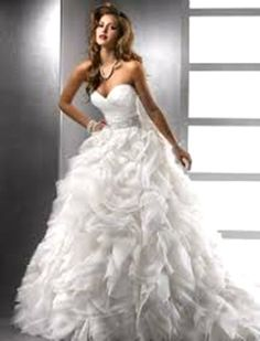Bridal Gowns - Sottero & Midgley Mermaid Wedding Dress with Sweetheart Neckline and Empire Waist Waistline