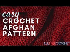 When it comes to easy crochet afghan patterns, nothing beats the World's Easiest Afghan. The texture alone on this crochet blanket pattern will draw you in and it's even better when you see that it's only a combination of single and double crochet. Crochet Afghans, Crochet Ripple, Easy Crochet Blanket, Tunisian Crochet, Crochet Blankets, Crochet Stitch, Fast Crochet, All Free Crochet, Double Crochet