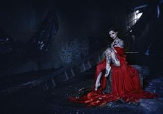"Dark Beauty ""Abandoned Cinema: The Girl in Red"" — Photographer: Mauro Martignoni - Fotografando Advertising & Fashion Photography​ Stylist/Makeup: Valentina Rodella Model: Ria E. Mac Carthy - Riae​ Assistants: Nicolò Muraca, Michele Cattaneo, and Luigi Fardella Retoucher: Nicolò Muraca"