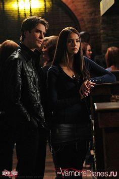 Damon Salvatore  & Elena Gilbert