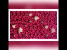 Izda Motivo de crochet / ganchillo sencillo y elegante con calado de rombo.