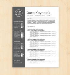 20 Hybrid Resumes Templates | Resume Template Ideas