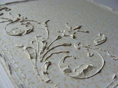 Cool Gesso Stenciling Technique ~ adds some great vintage texture!another great money saving idea to use in place of buying wood trim pieces for the pianos Mixed Media Tutorials, Mixed Media Techniques, Art Techniques, Do It Yourself Inspiration, Arts And Crafts, Paper Crafts, Art Journal Inspiration, Texture Painting, Craft Tutorials