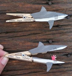 sharks patrol these waters by Molas & Co, via Flickr - check this page out!  There are several clothespin ideas here that are just so clever.
