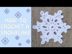 How To Crochet a Snowflake - YouTube really easy video and looks really pretty