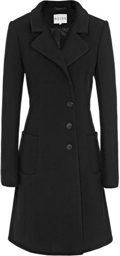 REISS ENGLAND Fit and Flare Coat - Lyst
