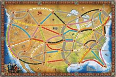 Board from Ticket to Ride Anniversary Diy Games, Games To Play, Mundo Geek, Ticket To Ride, Group Games, 10 Anniversary, Tabletop Games, Wild West, The Expanse