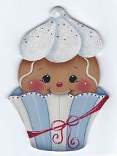 HP GINGERBREAD Cutie Cake (Blue & White) FRIDGE MAGNET Christmas Gingerbread Men, Gingerbread Ornaments, Christmas Love, Gingerbread Decorations, Cartoon Cupcakes, Stitch Games, Creation Art, Cupcake Art, Pintura Country