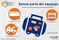 #GNP #seguros Te respalda a ti y a tu vehículo durante los viajes que realices. #seguroentuauto