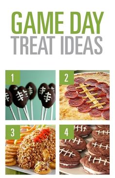 These are cute ideas.  The best part about Superbowl is the food!