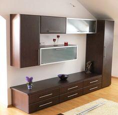 mobila living - Căutare Google Living, Home Organization, Kitchen Cabinets, Interior Design, Bedroom, Google, Home Decor, Entertainment Centers, Houses