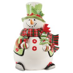 Discount Price Fitz and Floyd Holly Hat Snowman Cookie Jar on sale. by Home Patio Furniture Accessories 2015 Cute Christmas Cookies, Snowman Cookies, Christmas Dishes, Cute Cookies, Holiday Cookies, Christmas Baking, Christmas Christmas, Vintage Christmas, Christmas Crafts
