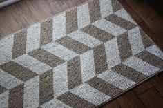 A Simple Kind of Life: DIY Painted Herringbone Rug