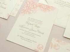 Swoon  Pink Peony Wedding Invitation  Invite Set by BanterandCharm, $5.00