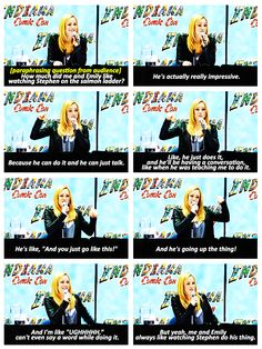 Caity Lotz -about the salmon ladder and Stephen Amell