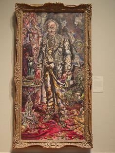 Dorian Gray by Ivan Albright-- Art Institute Chicago Ivan Albright, Stair Art, Art Institute Of Chicago, Outdoor Art, North America, Art Drawings, Graffiti, Street Art, Sculptures