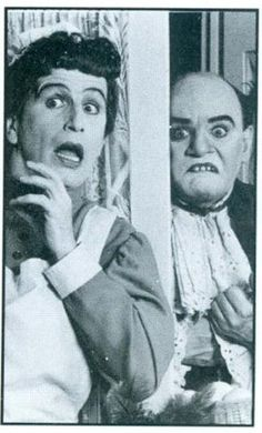 Charles Ludlam and Everett Quinton performing THE MYSTERY OF IRMA VEP in 1984
