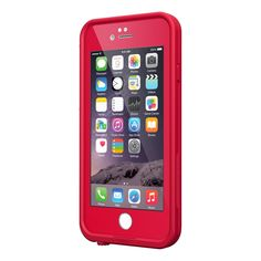 Red iPhone 6 lifeproof case