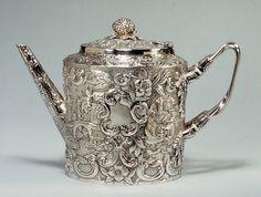 Teapot Maker: Andrew Ellicott Warner (1786–1870) c.1845 Baltimore, Maryland, United States  Silver