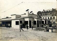 "Фото 1925 г. Трамвайный павильон на Сущёвском валу. Остановка ""Марьина роща"""