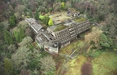 Brutalism and Culture: How St Peter's Seminary is Already Shining in its Second Life, Built in St. Peter's Seminary is hidden away in a forest 20 miles outside Glasgow. Image Courtesy of Courtesy Tom Kidd / Almay via Metropolis Magazine Abandoned Buildings, Abandoned Places, Abandoned Castles, Metropolis Magazine, Visual And Performing Arts, Brutalist, Roman Catholic, Aerial View, Ruins