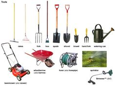 noun - Definition, pictures, pronunciation and usage notes English Fun, Learn English, English Language, English Time, English Grammar, Diy Courses, Agricultural Tools, Natural Ecosystem, Garden Tool Set