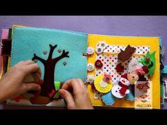 РАЗВИВАЮЩАЯ мягкая КНИЖКА для детей из ткани и фетра # с совой искалочкой - YouTube