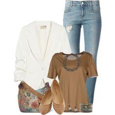 Blazer and Jeans with Anuschka Bag