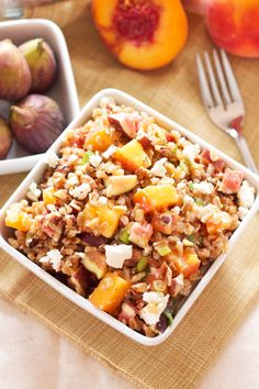 Farro Salad with Peaches and Figs | Recipe Runner