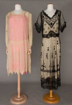 TWO FLAPPER PARTY DRESSES : Lot 260