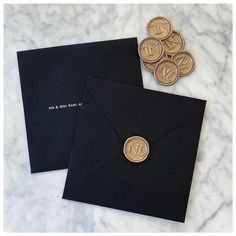 """Wedding Ready Co. on Instagram: """"Luxe black & personalised wax seals 💕 gorgeous details by @maziicollection as always 😍  #details #luxe #personalised #weddingdetails…"""" Wax Seals, Wedding Stationary, Wedding Details, Continental Wallet, Black, Instagram, Wedding Stationery, Black People"""