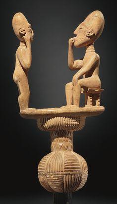 GHANA Ocean Art, Ghana, Gold Leaf, Fountain, African, Carving, Statue, Wood Carvings, Water Fountains