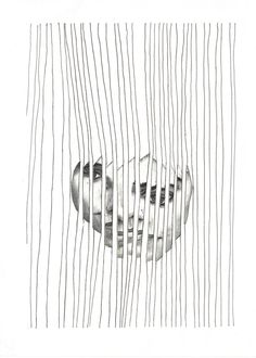 """Capture"". Black and White Art Print by Art is Autobiographical. We form our own cages and bend the bars to fit our view of what we can and can't achieve. We can be our own worst enemies. We capture ourselves! £15.00"