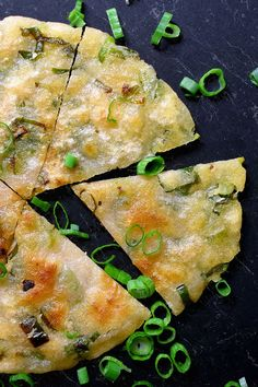 Are you ready to fry up a batch of paleo scallion pancakes? Never heard of scallion pancakes? You may know them as green onion pancakes, or chong yao beng (葱油饼). These irresistibly crispy-on-the-outs Nut Free, Grain Free, Dairy Free, Healthy Asian Recipes, Paleo Recipes, Chinese Recipes, Fish Recipes, Veggie Recipes, Scallion Pancakes