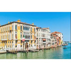 And the streets were flooded with the reflection of colourful façades Grand Canal, Travel And Leisure, Venice, Reflection, Mansions, Street, House Styles, Instagram Posts, Color