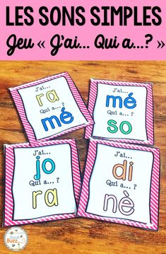 Jeu pour pratiquer les sons simples et syllabes simples avec les voyelles. J'ai qui a. French game to practice french sounds and syllables. Perfect for french immersion. French Teaching Resources, Teaching French, Teacher Resources, Teacher Pay Teachers, Bilingual Classroom, Core French, French Classroom, Teacher Boards, French Teacher