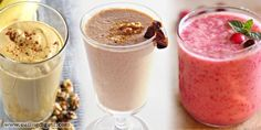 Walnut-Date, Cranberry-Apple and Pumpkin Spice Smoothie Recipes