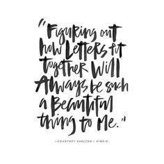 Hand lettering by Courtney Shelton / HIBRID | #handlettering #typography #brushlettering #calligraphy