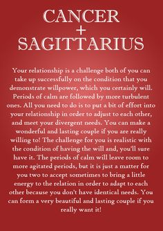 CANCER AND SAGITTARIUS LOVE MATCH http://astroligion.com/synastry/