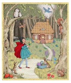 Little Red Riding Hood. From RaClowesIllustration on Etsy.