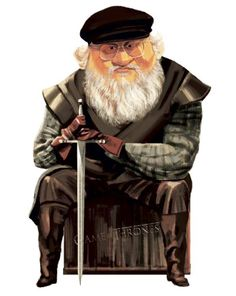 George R. Martin / Writer / by Francisco Javier Olea Master Chief, Artist, Fictional Characters, Illustrations, Cunha, Fresco, Street Art, Dibujo, Writers