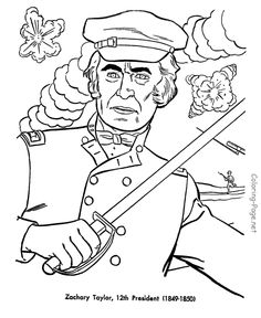 zachary taylor us president coloring page