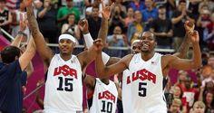 Carmelo Anthony y Kevin Durant liderarán al equipo de baloncesto de Estados Unidos en los Juegos Olímpicos Rio 2016