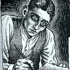 """""""Don't bend; don't water ir down; don't try to make it logical; don't edit your own soul according to the fashion. Rather, follow your most intense obsessions mercilessly..."""" #franzkafka #kafkaquote #rcrumb"""