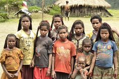 Girls of Kolowen. Located in Papua, Indonesia.