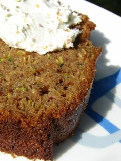 My mother has been making the yummiest moist Zucchini bread for as long as I can remember. The name sounds like some health food bread mean...